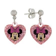 minnie mouse earrings drop earrings minnie mouse heart