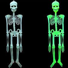 horror luminous movable skull skeleton props glow evil