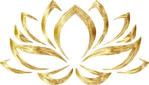 clipart goldenized lotus flower