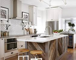 long kitchen ideas small island and suspended stainless steel rack