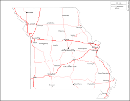 Columbia Missouri Map Missouri Free Map Free Blank Map Free Outline Map Free Base