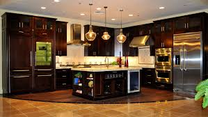 bathroom handsome kitchen dark cabinets light countertops