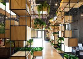 indoor planting penda s indoor planting modules provide a green oasis inside home cafe