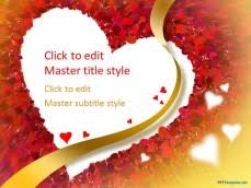 heart design for powerpoint free love heart ppt template