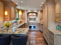 attractive narrow kitchen ideas for house decorating concept with