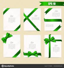 green gift voucher vector illustration set gift card vector illustration on white background luxury wide