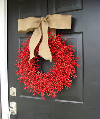 decoration ideas comely images of red berry christmas wreath for