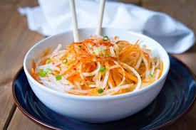 carrot and daikon noodle salad recipe u2014 eatwell101