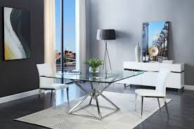 Glass Top Square Dining Table Modern Square Dining Table Contemporary Xander Glass Throughout 9