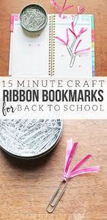 craft ribbon simple ribbon bookmark 15 minute back to school craft craftivity