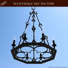 Vintage Wrought Iron Chandeliers Medieval Style Wrought Iron Chandelier