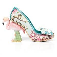 womens irregular choice turquoise blushing bird floral high heels