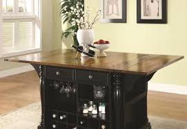 kitchen islands with wine racks buy kitchen carts two tone kitchen island with drop leaves by