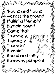 pumpkin poem from runaway pumpkin book teacher ideas pinterest