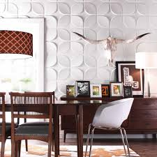 modern flat 3d family room wall accent monochromatic brown small