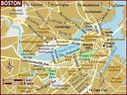 boston city map map of boston