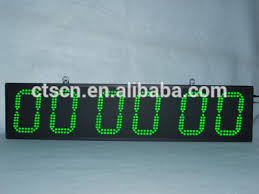 outdoor race timer 6 digit 8 inch led sports countdown clock