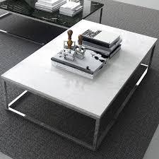 White Marble Top Coffee Table Prairie Coffee Table White Marble Top Chrome Legs Tema Home