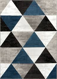 Area Rug Pattern Arlo Tiles Blue Modern Triangle Pattern Area Rug Ruglots