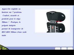 groupe siege auto recaro 6207 21212 66 siège auto groupe 2 3