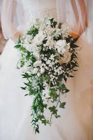 wedding flowers valley gorgeous cascading wedding bouquet featuring white roses white
