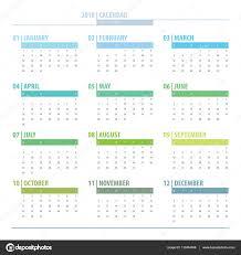 Kalendář 2018 Svátky 2018 Kalendářní Rok Mřížky Návrhu Izolované Na Bílém Pozadí