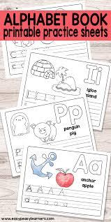 free printable alphabet book for preschool and kindergarten