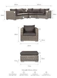 marden corner sofa set all weather rattan garden trading