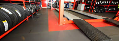 garage mot centre u0026 workshop flooring easy install ecotile