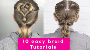 10 easy braid tutorials beautiful hairstyles how to do a
