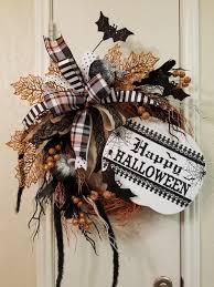 happy halloween grapevine wreath halloween wreath grapevine