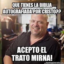 Cristo Meme - meme personalizado que tienes la biblia autografiada por cristo