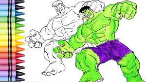 hulk coloring pages for kids learn colors coloring pages hulk