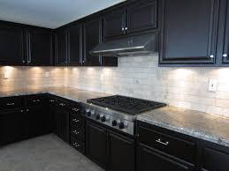 stone tags kitchen stone backsplash dark cabinets light stone