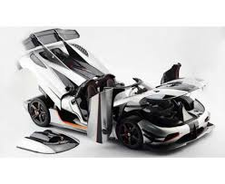 koenigsegg white agera one 1 silver full open limited 150 pcs by frontiart scale 1 8