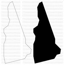 New Hampshire State Map by New Hampshire State Map Svg Png Jpg Vector Graphic Clip Art New