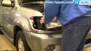 2007 toyota tundra fog light bulb size how to install replace headlight and bulb toyota sequoia 01 04