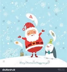 claus stock vector merry cute christmas cards card santa claus