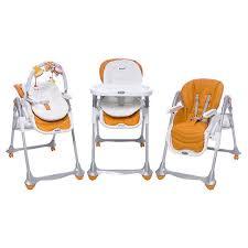 chaise haute brevi b d coratif transat evolutif chaise haute brevi b 3en1 orange
