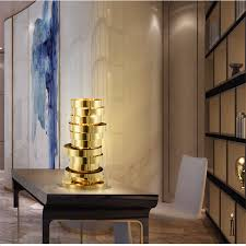 modern gold table l fumat ring shaped table ls gold stainless steel bedroom bedside