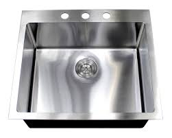 25 inch drop in top mount stainless steel single bowl kitchen