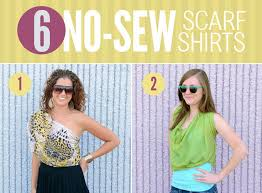 6 ways to diy a scarf into a shirt u2014 no sewing required