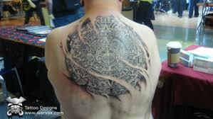 aztec calendar tattoo design by warvox warvoxtattoos