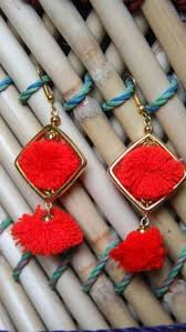 lotan earrings earrings pom pom electric earrings online shopping india