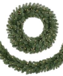 classic noble fir wreath and garland tree classics