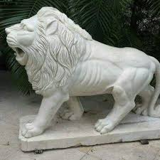 lion statue white marble lion statue at rs 12000 marble lion id