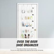Over The Door Organizer Accessorygeeks Com Over The Door Shoe Organizer White Clear