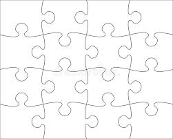 puzzle blank template easy to edit stock vector image 60338863