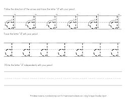 letter d worksheets for preschool kindergarten printable