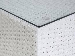 designer gartenmã bel outlet patio conversation set white wicker with cushions sano
